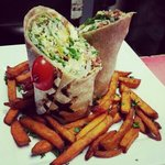 chicken caesar wrap with yams