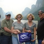 Our customers at the Li River cruise