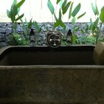 Stone bath tub in the Valley Pool View Villa