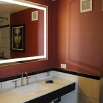  view of mirror in the bathroom