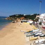 This is the beach Olhos d'Agua about 20 minute walk from the hotel