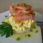 Breakfast Smoked Salmon and Scrambled egg