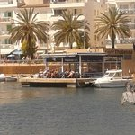 Chill out and catch the sun in the harbour at thalassa!