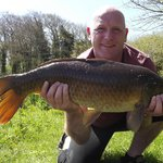  One of many 14lb carp caught