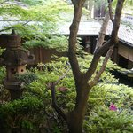 Small garden in the ryokan