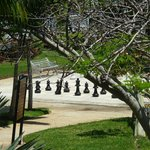  View of the chess area from our balcony