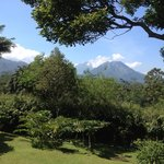 Mt. Merapi View from our villa