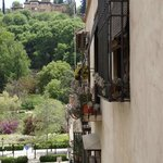 View from room towards La Alhambra
