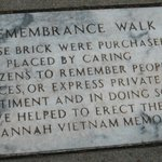  At Vietnam Memorial on Bay Street (just above River St), Savannah