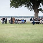 Wedding ceremony location under big oak tree!