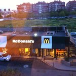View of McDonald's from our bedroom