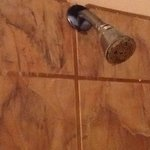rusted shower head.