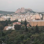 View of the Acropolis  from my room