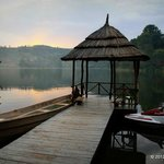 Lake Bunyonyi Overland Resort boating and swimming dock