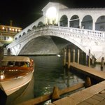  Water taxi by The Rialto Bridge