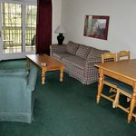  Living/dining area is attractive and in good condition