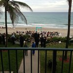 View of the wedding from the Seabonney balcony