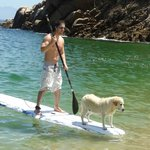  Paddle boarding with Lady