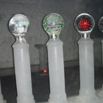 Ice sculptures next to the bar
