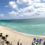  panoramic view of beach from balcony
