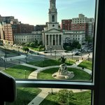 View of Thomas Circle from room