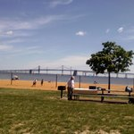 Sandy Point Beach with Bay Bridge in the background