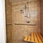  A large accessible shower awaits you!