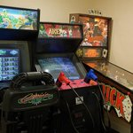  Check out the Arcade games in our Game Room