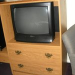  Older TV &amp; Cabinet
