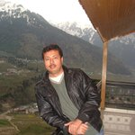 at balcony overlooking Beas valley