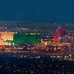 The Las Vegas Strip is 12 miles away.