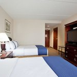 All rooms have 32 inch flat screen tvs with pay per view options.
