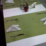  Every table cloth in the restaurant was FILTHY, they just sweep the cumbs up after each use!