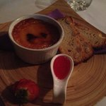 Creme Brûlée with almond biscotti