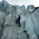  climbing the ice-fall