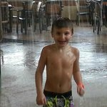 My baby at Zehnders water park