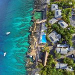  Overhead view of Sunset House showing the fabulous reef just off shore!