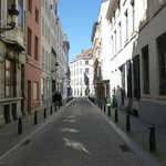 The street on which Carmelites Guesthouse  is located.