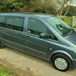 Our new Mercedes minibus for tours