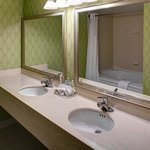 Double sinks and plenty of mirror space available in select rooms
