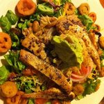 Tex-Mex salad with grilled chicken