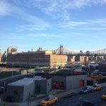  Slightly industrial, but nice and quiet.  View of the Brooklyn Bridge!