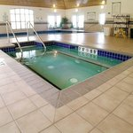 Enjoy a dip in the pool or whirlpool after working out.