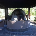 The pizza oven in the daytime
