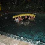 Swimming even when it rained, mostly at night
