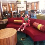 The lobby is amazing! My daughter did not want to leave.PS:They sell cotton candy in the snack a