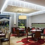 Fabulous Brasserie dining overlooking lake terrace