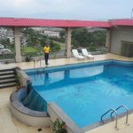  The roof top pool