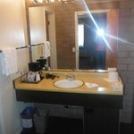 the bathroom sink/dressing area