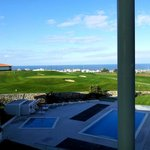  View from the room to the golf course and ocean
